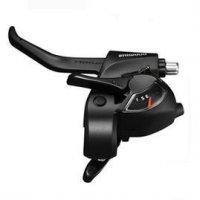 Шифтер/тормозная ручка SHIMANO Шифтер/Тормозная ручка  Tourney EF41, левый, 3 скорости, трос 1800 мм, черный, ASTEF41LBL