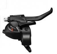 Шифтер/тормозная ручка SHIMANO Шифтер/Тормозная ручка  Tourney EF41, правый, 6 скорости, трос 2050 мм, черный, ASTEF41R6AL