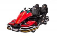 Детский спортивный 3-местный электрокарт Dongma-DMD Dongma Go Kart Red 12V - DMD-288