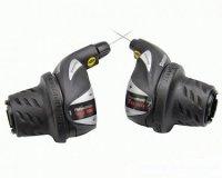 Шифтер Shimano Tourney, RS36, лев/пр, 3(Frict)x6ск), тросик+оплетка