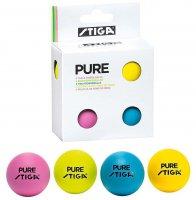 Мячи Stiga Pure (разноцветные) 4 шт 40 мм