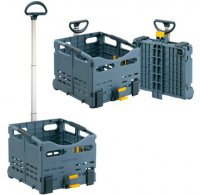 Корзина-тележка TOPEAK TrolleyTote Folding Basket, совместима с MTX багажниками