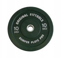 Диск бамперный Original Fit.Tools 10 кг (зеленый)