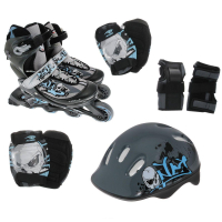 Набор: коньки ролик, защита, шлем Action PW-120B р. 31-34