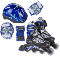 Набор: коньки ролик, защита, шлем Action PW-780 р. 30-33