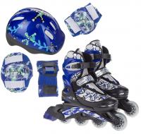 Набор: коньки ролик, защита, шлем Action PW-780 р. 34-37