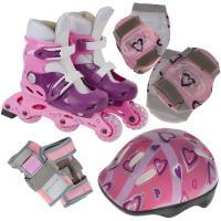 Набор: коньки ролик, защита, шлем Action р. 31-34