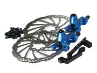 Тормоза дисковые мех. MB700S передний+задний с роторами 160мм BENGAL синие, в коробке