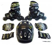 Набор: коньки ролик, защита, шлем Action PW-120B р. 35-38
