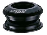 """Рулевая H125 полуинтегрированная нерезьбовая, 1-1/8"""" x 44/50 x 30, высота 10,9±0,5мм NECO вес 60,8г, алюминий/сталь, промподшипники D:41x36*x45*, чёрная, крышка 5 мм"""