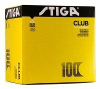 Мячи Stiga Club  100 шт 40 + (белый)