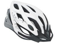 Шлем велосипедный Kellys diva. цвет: белый матовый/серый. цвет: s/m (56-58cm)