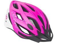 Шлем велосипедный Kellys diva. цвет: розовый/матовый белый. размер: m/l (58-61cm)