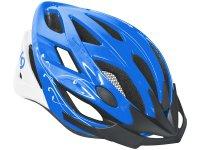 Шлем велосипедный Kellys diva. цвет: синий/белый. размер: m/l (58-61cm)