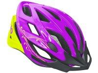 Шлем велосипедный Kellys diva. цвет: фиолетовый/салатовый. размер: s/m ( 56-58cm)