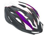 Шлем велосипедный Kellys blaze. цвет: белый/фиолетовый. размер: s/m (54-57см)