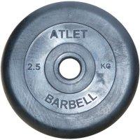 Диск обрезиненный Barbell чёрного цвета, 31 мм