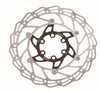 Диск тормозной 180мм нержавеющая ALHONGA сталь серебристый/чёрный с болтами