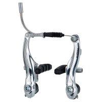 Тормоза V-brake hj-7011ad7 для детских, складных, bmx, алюминий, рамки 95мм ALHONGA пружина линейная, серебристые, с колодками hj-601.12 (60мм)