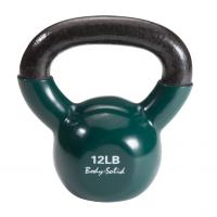 Гиря 5,4 кг (12lb) Body Solid обрезиненная темно-зеленая