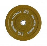 Диск бамперный Original Fit.Tools 15 кг (желтый)