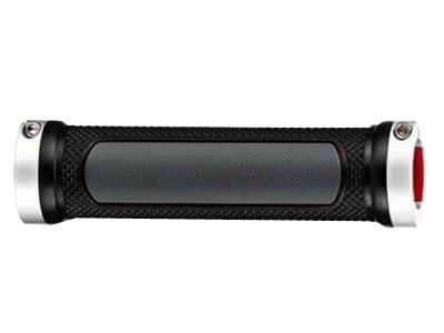 Грипсы HY-666EP-3D PROPALM 128мм, с 2 грипстопами, с заглушками, тройная плотность, чёрный/серый, с упаковкой
