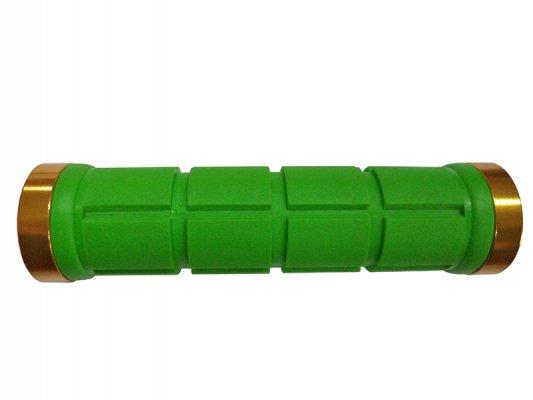 Грипсы HY-2004EP PROPALM для Fixed Gear, 128мм, с 2 грипстопами, с заглушками, салатовые, с упаковкой