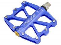 Педали mlg-CK518 алюминиевые CNC, 91х101х11мм, ось CrMo MALAGE 4 промподшипника, сменные шипы, синие