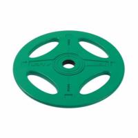 Олимпийский обрезиненный диск Alex 10 кг, зеленый