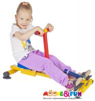 Детский гребной тренажер Moove&Fun с одной рукояткой