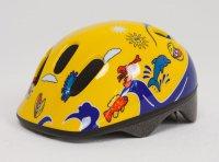 Шлем детский BELLELLI желто-синий с дельфинами