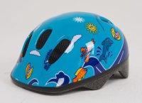 Шлем детский сине-голубой BELLELLI с дельфинами