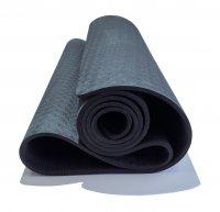 Коврик для йоги Original Fit.Tools 6 мм однослойный черный TPE 1830х610х6 мм