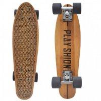 Скейтборд PLAYSHION бамбуковый коричневый