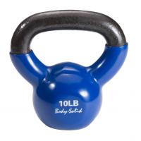 Гиря 4,5 кг (10lb) Body Solid обрезиненная синяя