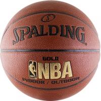 Баскетбольный мяч NBA Gold Spalding с логотипом NBA