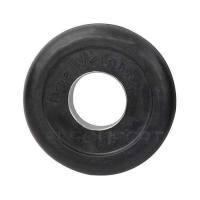 Диск обр. черный  Lite weights d-51mm 1,25кг с мет. втулкой