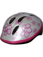 Шлем BELLELLI детский серебристый с цветами, S (48-54cm)