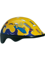 Шлем детский BELLELLI Желто-синий с дельфинами, М (52-57cm)