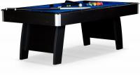 """Бильярдный стол для пула Weekend Billiard Company """"Riga"""" 8 ф (черный)"""
