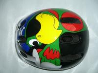 """Шлем детский BELLELLI """"Пиратский попугай"""" чер/син/желт/крас, М (52-57cm)"""