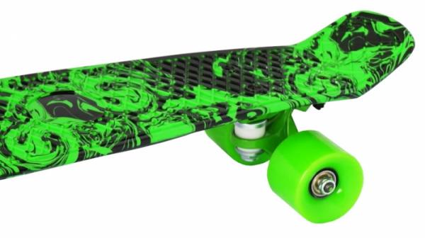 "Скейт пластиковый 22х6""-18 Moove&Fun зеленый"