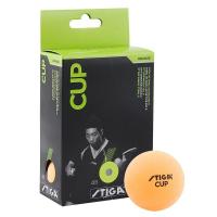 Мяч для настольного тенниса Stiga Cup, 40мм, упак. 6 шт, оранжевый
