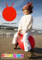 Мяч-попрыгун с ручкой Moove&Fun улиткины рожки» (диаметр 45 см)