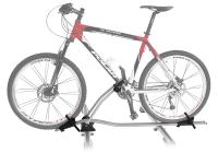 Peruzzo Автобагажник на крышу MARANELLO, алюминий/сталь, для 1-го в-да, фиксация велосипеда: колёса установ. в полозе, за нижнюю трубу рамы, max D: 60 мм - круглая, 60х100 мм - овальная, зажим-замок под ключ, установ. на дуги max. 60 мм, серое защитное по