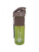 Спортивная бутылка Аквамарин Спортивный элемент S10-450, зеленый, голубой
