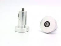Заглушки руля CAP-05 PAZZAZ M6х40мм алюминий, серебристые с логотипом Pazzaz, пара