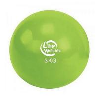 Медбол  Lite weights 3кг 1703LW, салатовый