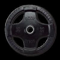 Диск обрезиненный Body Solid 35 фунтов (15,87 кг)