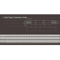 Ось каретки 3PL 35-52-35 под гайки NECO Ширина каретки 68мм. Длина оси 122мм